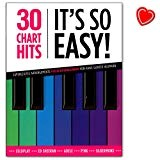 30 Chart Hits – It' s So Easy. – 30 Absolute Chart Hits der Pop Musica per pianoforte principianti – libro Note con Bunter herzfoermiger Note KLAMMER