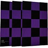"""48 pezzi di pannelli fonoassorbenti, da 2,54 x 30,5 x 30,5 cm 1"""" x 12"""" x 12"""" Cruz V2 Fresh ..."""