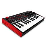 AKAI Professional MPK Mini MK3 – Tastiera MIDI Controller USB a 25 Note con 8 Drum Pad Retroilluminati, 8 Manopole ...