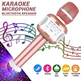 Leeron Microfono Karaoke Bluetooth con Altoparlante Microfono Wireless Karaoke Bambini batteria AUX Portatile 4.1 wireless Karaoke per PC, laptop, iPhone, ...
